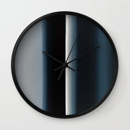 Vertical Blue and White Stripes Wall Clock