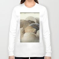 shells Long Sleeve T-shirts featuring Shells by Fran Walding