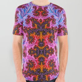 BBQSHOES™: Fractal Mother of Pearl All-Over Print T-Shirt All Over Graphic Tee
