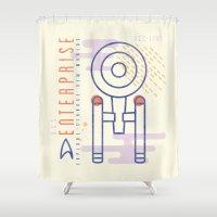 MNML: NCC-1701 Shower Curtain