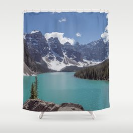 Lake Moraine Top View Shower Curtain