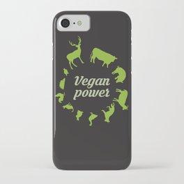 Vegan power iPhone Case