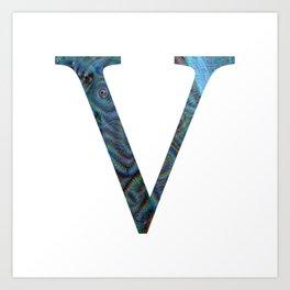 """Initial letter """"V"""" Art Print"""