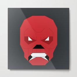 Red.Skull Metal Print