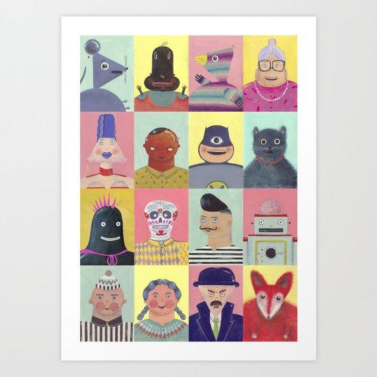 bobbies friends Art Print