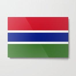 Flag of Gambia Metal Print