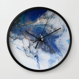 Abstract blue marble Wall Clock
