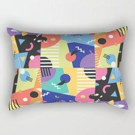 Colourful Memphis Block Design Rectangular Pillow