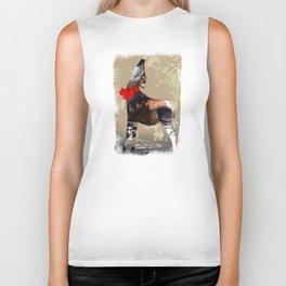 Okapi  with Red Bow Biker Tank