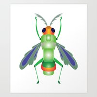 bug Art Prints featuring Bug by MinaSparklina