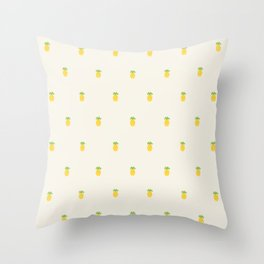 Pineapple Pattern Cross Stitch Throw Pillow