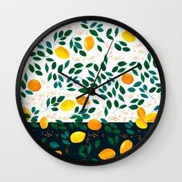 Lemon Orange Wall Clock