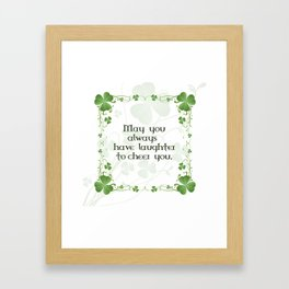 Irish Blessing Shamrock Border Framed Art Print