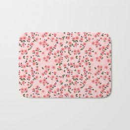 29 Cute floral pattern. Pink flowers. Bath Mat