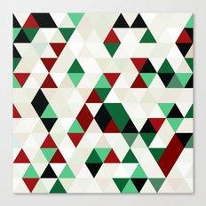 Christmas Geometric Canvas Print