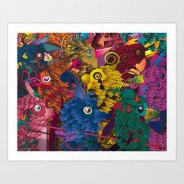 Cuckoos Art Print