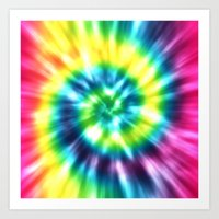 tie dye Art Prints featuring Tie Dye by Patterns of Life