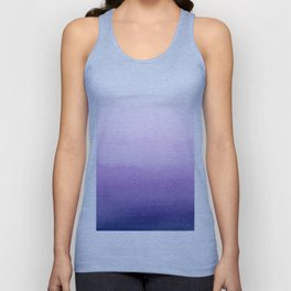 Purple Watercolor Design Unisex Tank Top
