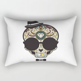 Blind Sugar Skull Rectangular Pillow