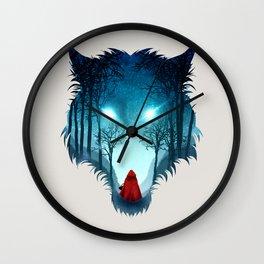 Big Bad Wolf (light version) Wall Clock