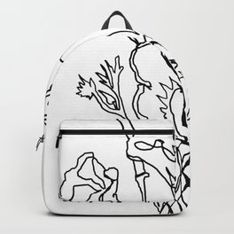 California poppy botanical minimalist line art Backpack