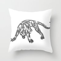 courage Throw Pillows featuring Courage by Larissa