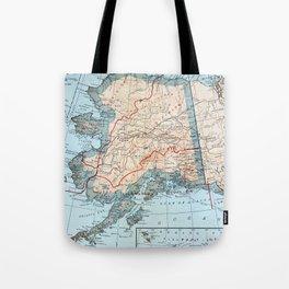 Vintage Map of Alaska (1921) Tote Bag