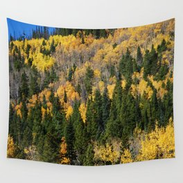 Fall at the Rockies Wall Tapestry