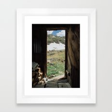 Colorado Mountain Cabin Framed Art Print