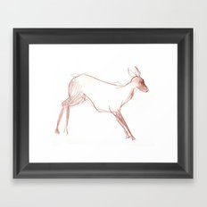 Little Doe Framed Art Print