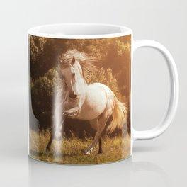 Andalusian stallion playing at sunset Coffee Mug