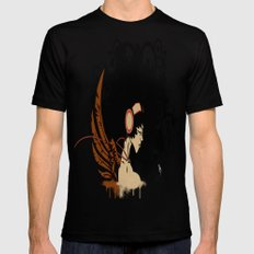 Rebel Lady Black Mens Fitted Tee SMALL