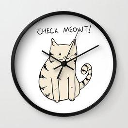 Check Meowt Wall Clock