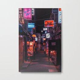 Golden Gai Tokyo Bar Crawl Metal Print