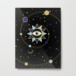 The Solar System Colored Version Metal Print