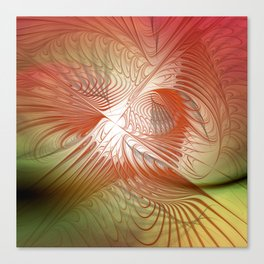 orange and red on texture Canvas Print