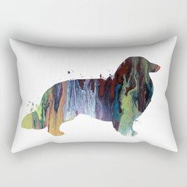 Longhaired dachshund Rectangular Pillow