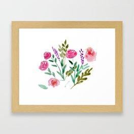 Country Bouquet Framed Art Print