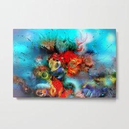 Coral Reef Red 444 Metal Print