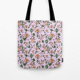 Cute Fennec Fox Pattern Tote Bag