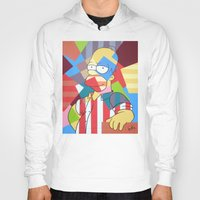 simpson Hoodies featuring Homer Simpson by iankingart