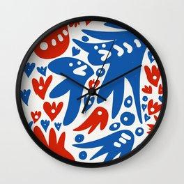 French Life Summer Art Abstract Wall Clock