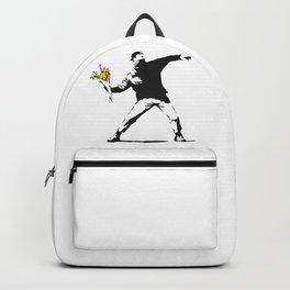 Love Is In The Air (Flower Thrower) - Banksy Graffiti Backpack