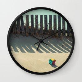 Rubik shading in the beach Wall Clock