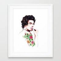 harry styles Framed Art Prints featuring Harry Styles by dariemkova