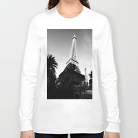 eiffel Long Sleeve T-shirts featuring Eiffel by Melynda Nichole