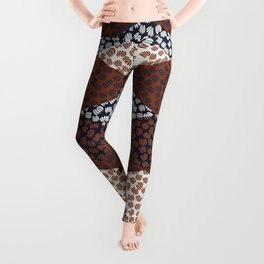 Patched Abstract Floral II Leggings