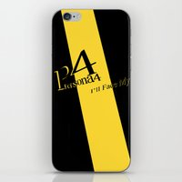persona 4 iPhone & iPod Skins featuring Persona 4 by BlackHeartedInk