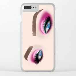 Barbie Make-Up Eyeshadow Clear iPhone Case