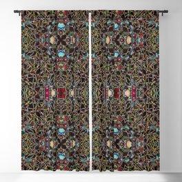 Persian-Style Motif (Premium Sun Crimson Gold Coleus) Blackout Curtain